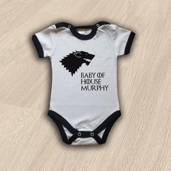 House Stark Baby Body Game Of Thrones Baby Bodysuit Got Baby Etsy