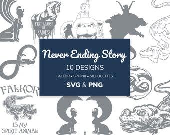 Never Ending Story SVG & PNG 10 Designs