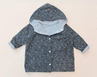 Jacket Pdf sewing Pattern, 0 to 5 years