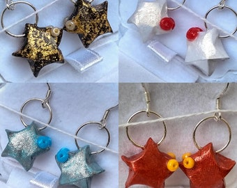 Earrings Origami star fish • efgh ⋆