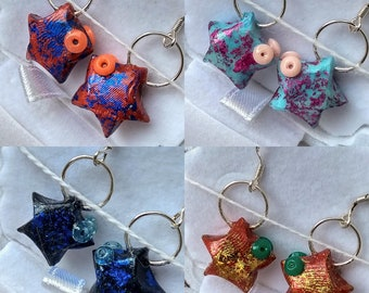 Earrings Origami star fish • qrst ⋆