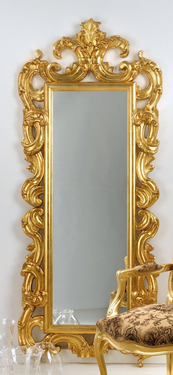 Mirror Whole Style Baroque Gold Leaf, Baroque Style Gold Mirror