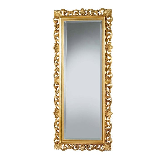 Mirror Whole Baroque Style Leaf Gold, Baroque Style Gold Mirror