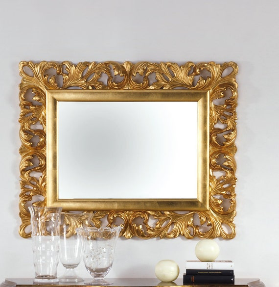 Mirror Leaf Gold Baroque Antique Style, Baroque Style Gold Mirror