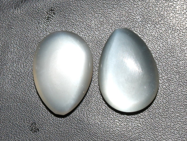 Natural moonstone Cabochon 24x17 mm Pear shape Matched Pair Handmade Loose AAA Gemstone For Making Earrings Flashy Moonstone Pair Gemstone