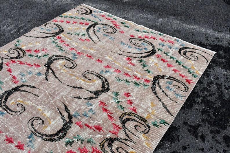 Vintage Rug Living Room Rug Oushak Rug Salon Rug   SN- 3996 Antique Rug Large Rug Handmade Rug Art Deco Rug 6.1 x9.3 Turkish Rug