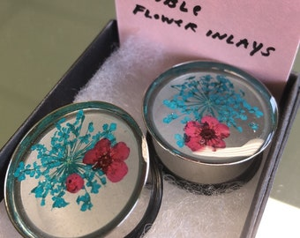 "Double Flower Inlay Plugs (7/8"")"