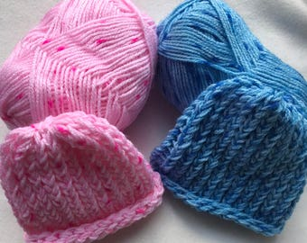 Handmade Knitted Newborn Brimless Hat - New Baby Gift