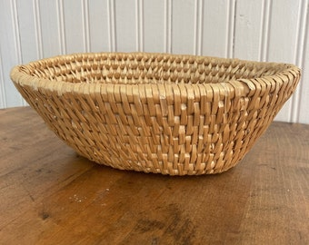 Build your own gift basket.  A light brown tight weave basket measuring 10 inches length, 7 3/4 inches width, and 4 inches height