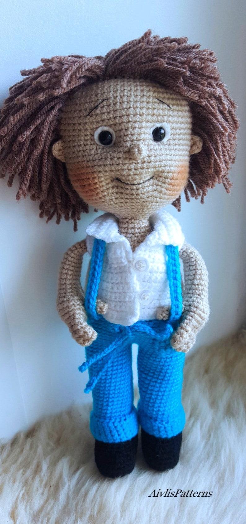 Amigurumi boy! with a link to a hair tutorial | Crochet doll ... | 1686x794