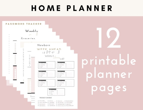 Mom Planner Printable Kit l Goals and Organization in your