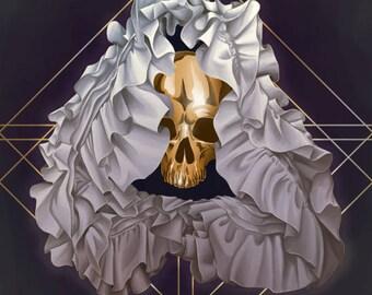 Shroud Poster 11x17 Art Print Gold