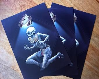 Postcard 5x7 Egyptian Mummy Curse