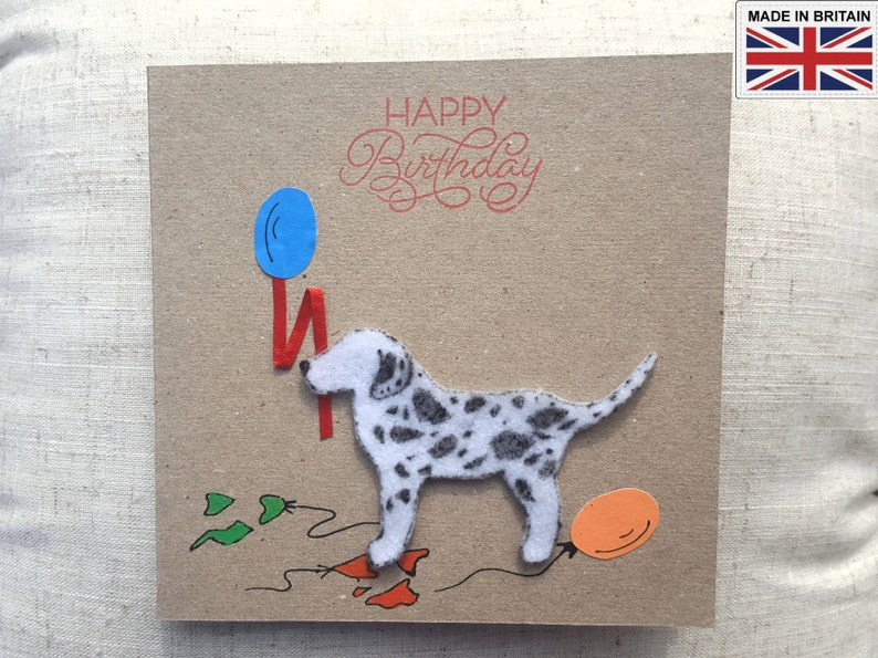 DALMATION DOG GREETINGS CARD Hand Made Many Images To Choose From *