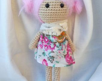 crochet doll, amigurumi doll, handmade toy, soft toy, crochet girl,