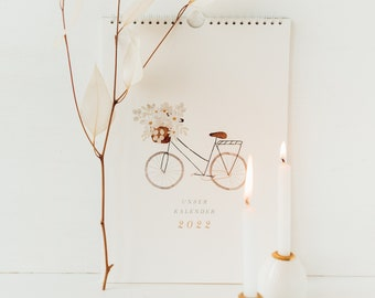 Couple Calendar 2022 with Illustrations Calendar 2022 Illustrated Calendar Family Calendar Annual Calendar Wall Calendar WG Calendar