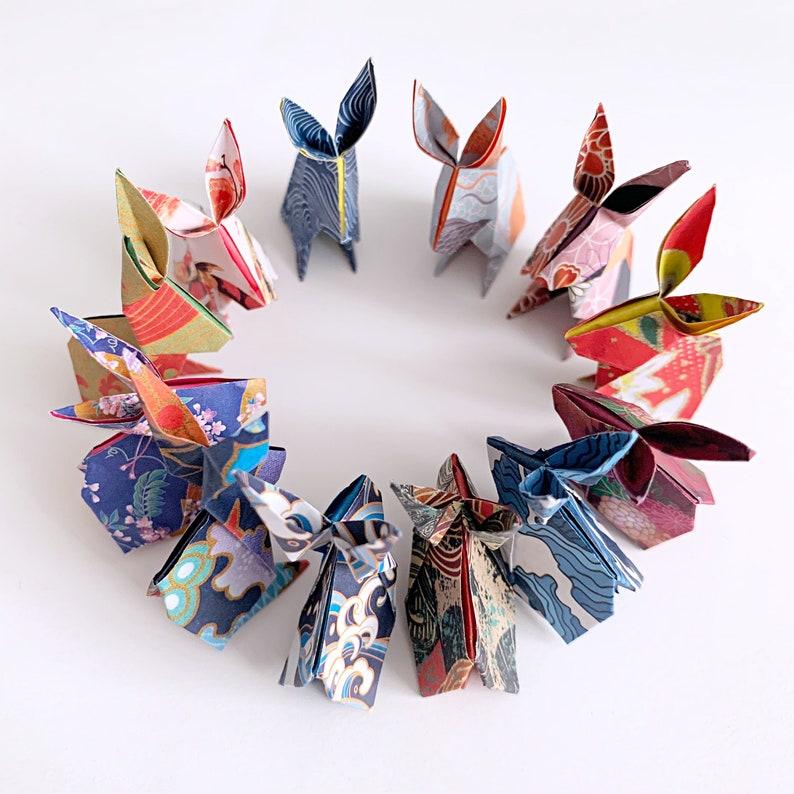 Japanese Chiyogami Print 24 Origami Paper Bunnies
