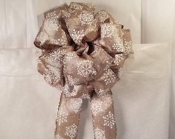 Snowflake Glitter Bow