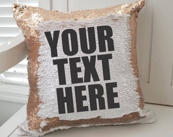 Custom Text Mermaid Pillow . Personalized mermaid pillow . Date Name Quote. Valentine's Day Gift for Her . Birthday Gift . Hidden Message