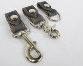 Mini Leather Belt KeyChain Clip