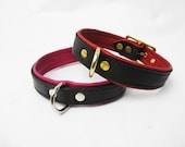 Leather D-Ring Double Layer Collar in Multiple Colors