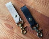Belt Keychain Clip - Personalized & Leather