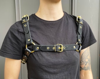 VIRGO BABE Leather Chest Veg Tan Harness