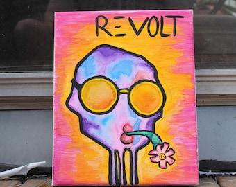 Revolt Watercolor painting
