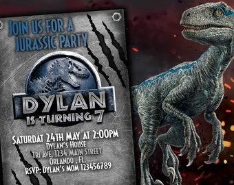 Jurassic World 2 Invitation Birthday Party