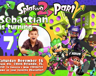 splatoon 2 party etsy
