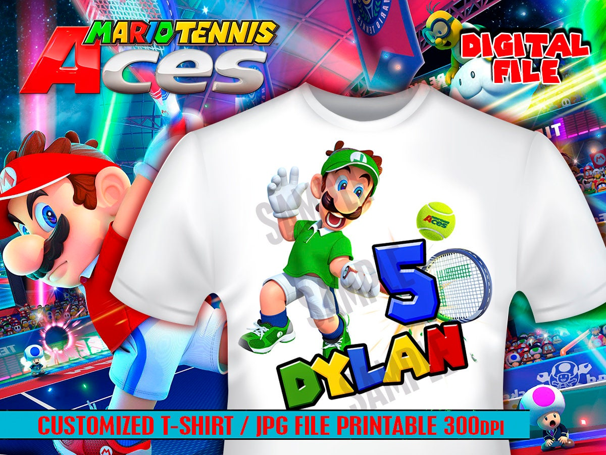Design for T-shirt Mario Tennis Aces For you party | Etsy