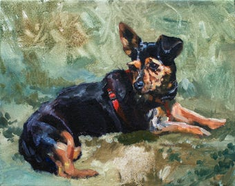 Small Custom Dog Portrait from Photograph