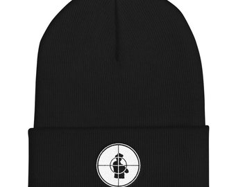 Public Enemy PE Target Cuffed Beanie Black Gray Navy Red 1a03918c39c