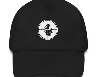Public Enemy PE Target Embroidered Dad Hat Strap Back Cap Black Navy Khaki  Pink Stone 90s Hip Hop Rap b8014e853bfa