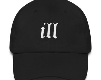 NAS ill Embroidered Dad Hat Strap Back Cap Black Khaki Navy White Classic  90s Hip Hop Rap cc8c22c2cd28
