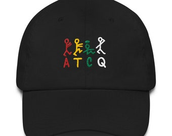 b388f2d2cb7 A Tribe Called Quest ATCQ Embroidered Dad Hat Strap Back Cap Classic 90s  Hip Hop Rap Phife Dawg Q Tip Black Navy Khaki
