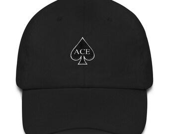 Ace Fam Family Embroidered Dad hat strap back spade black white light blue  pink khaki 35c212726feb