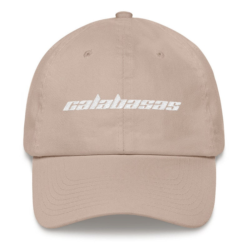cae29031a4263 Calabasas Embroidered Dad Hat Strap Back Cap Kanye West Yeezy