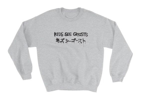 Kids See Ghosts Kanye West Kid Cudi Crewneck Sweatshirt S 5xl Etsy