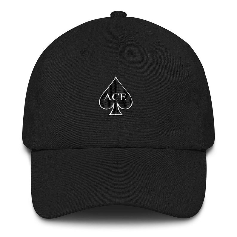 Ace Fam Family Embroidered Dad hat strap back spade black  a6a7be8f8ab
