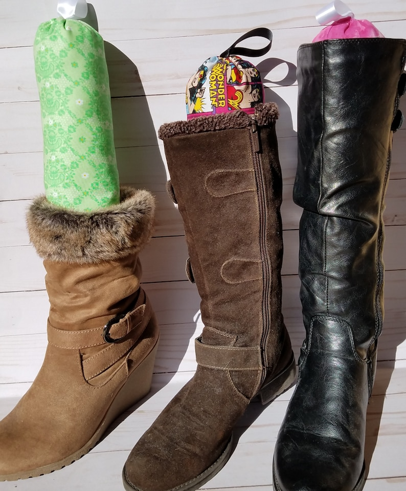 Boot Stands Cotton Fabric Rose Crown Bunnies Pattern Boot Shapers Boot Trees