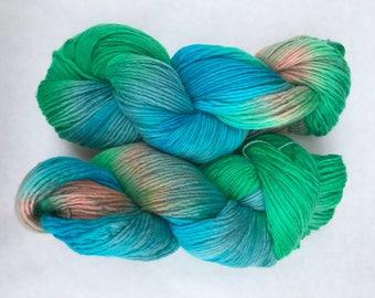 Hand dyed yarn/ Beach water