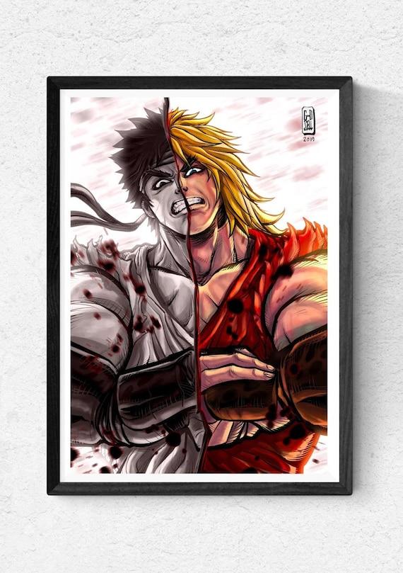"""Streetfighter 2 caracteres /""""Chun-Li /& Cammy Pared Arte Pegatina//Calcomanía"""