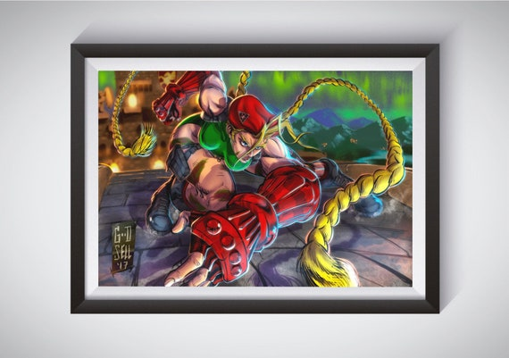 Cammy White Poster Gift Street Fighter Arcade 80s Wall Art Etsy