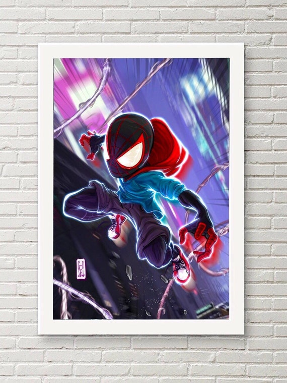 MILES MORALES Poster SpiderMan Into the SpiderVerse Portrait Marvel Gifts for Me