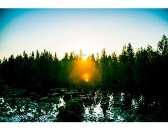 Fine Art Landscape Photography - 1978, Nature Photography, Sunrise, Mood, Florida, Prints, Canvas