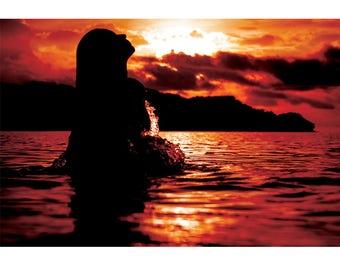 Fine Art Landscape Photography - CR Mermaids, Nature Photography, Costa Rica, Sunset, Ocean, Prints, Canvas