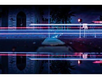 Fine Art Landscape Photography - Neon Icon, Architecture, Lightning, Exposure, Prints, Canvas