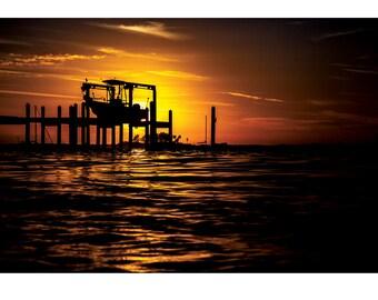 Fine Art Landscape Photography - The Positives of a Negative, Nature Photography, Sunrise, Dunedin, Florida, Prints, Canvas