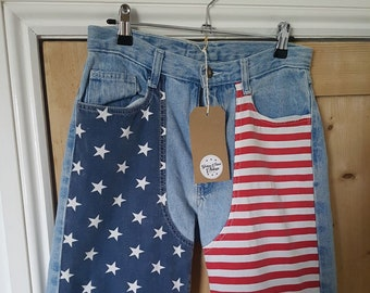 Vintage Denim (US Flag) Shorts
